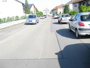 Zugeparkte von Kleist-Straße bereits morgens um kurz vor 9.00 Uhr.