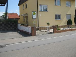 Bushaltestelle des Stadtbusses in der von Kleist-Straße.